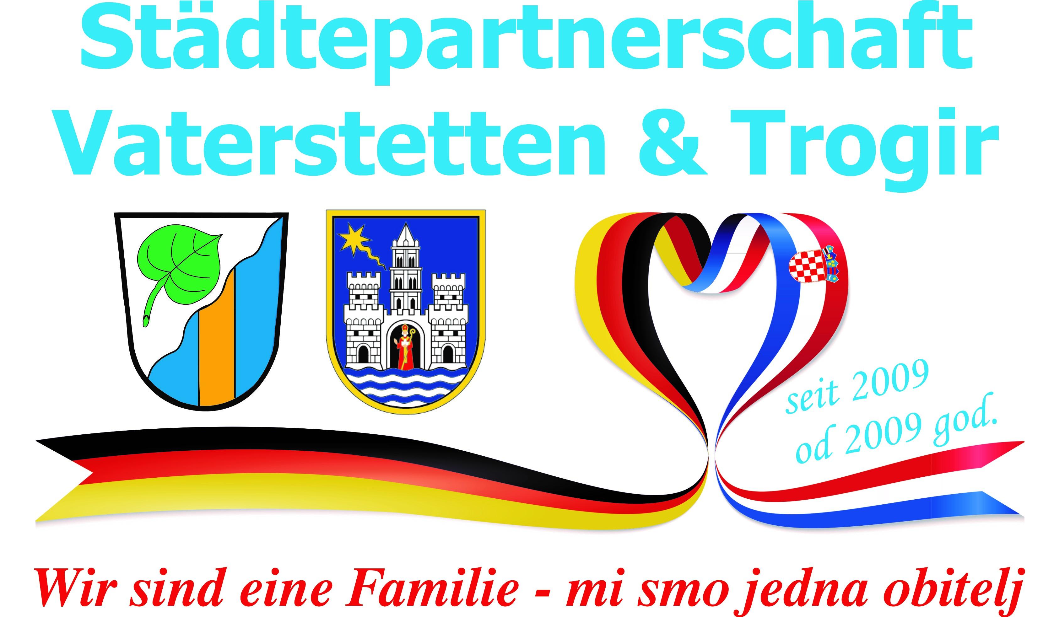 Städtepartnerschaft Vaterstetten und Trogir Logo